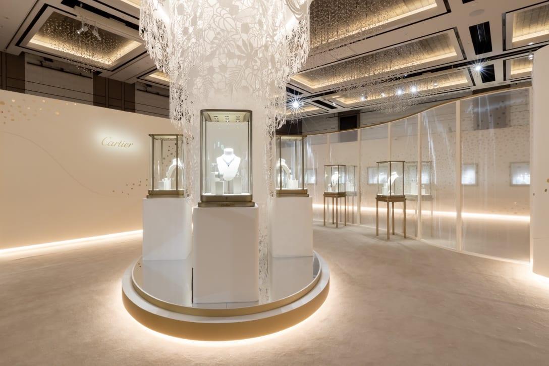 Cartier Salon Tokyo メインの展示会場