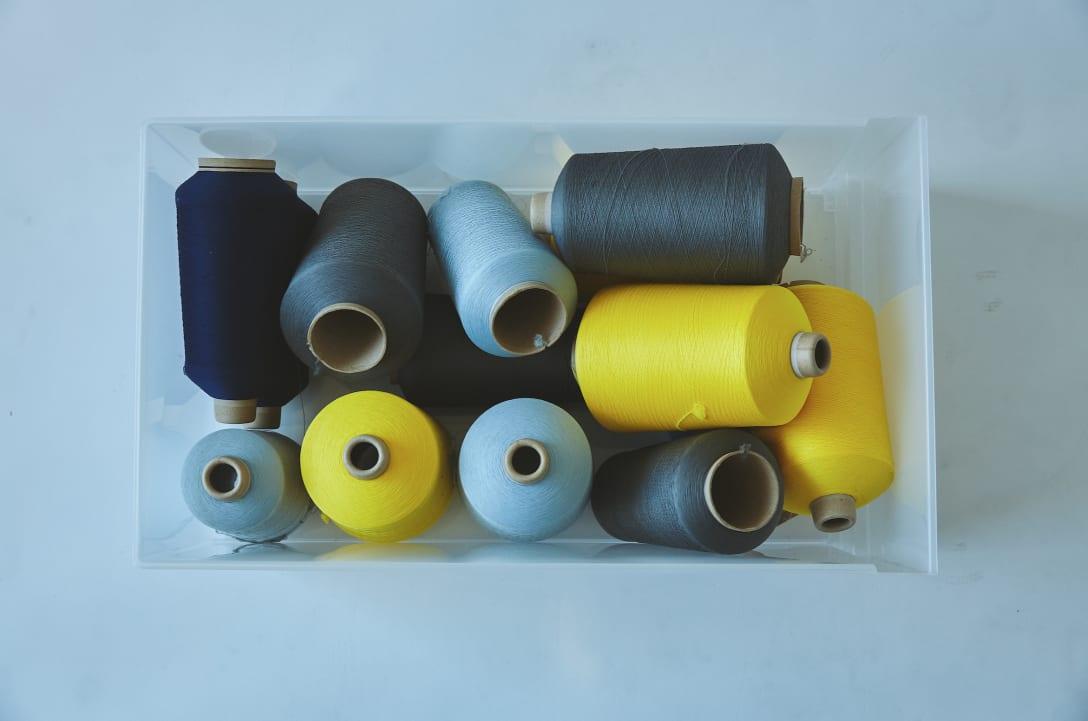 製品工程で発生した残糸 Image by CFCL