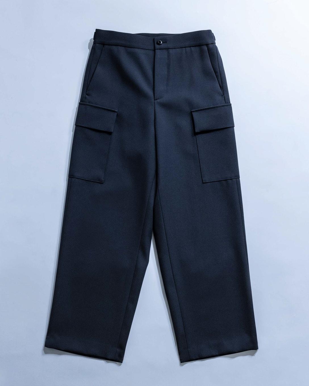 BACK SATIN FIELD CARGO PANTS Image by FASHIONSNAP