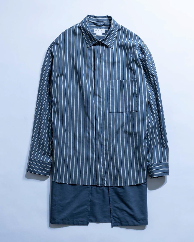 STRIPE APRON LAYERED SHIRT(税込3万3000円) Image by FASHIONSNAP