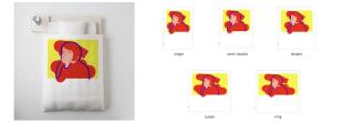 アーティスト赤とコラボした布団カバー