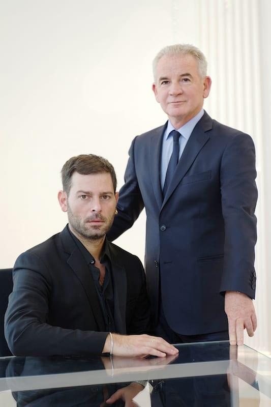 左)新クリエイティブ・ディレクターFausto Puglisi 右)アエッフェグループ代表Massimo Ferretti Image by Emanuel Ungaro