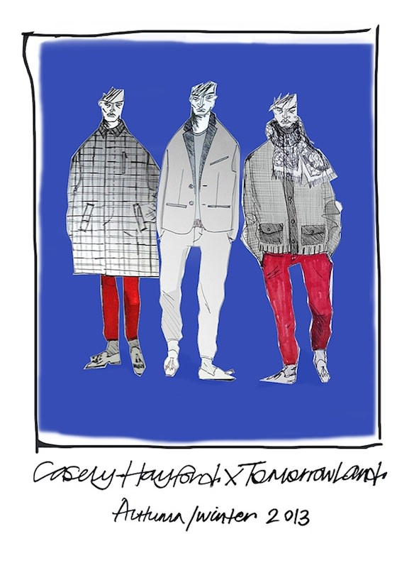 TOMORROWLAND × Casely-Hayford 直筆デッサン Image by TOMORROWLAND