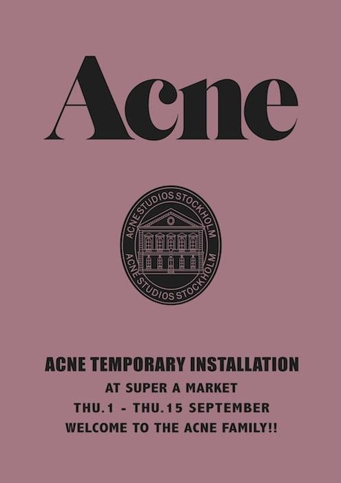 ACNE TEMPORARY INSTALLATION~POP UP SHOP~