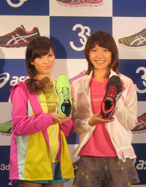 左)大島麻衣さん 右)高橋尚子さん Image by FASHIONSNAP