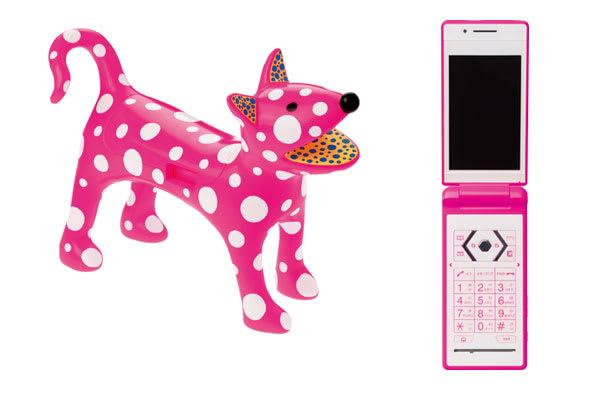 草間彌生デザイン「私の犬のリンリン」 Image by KDDI