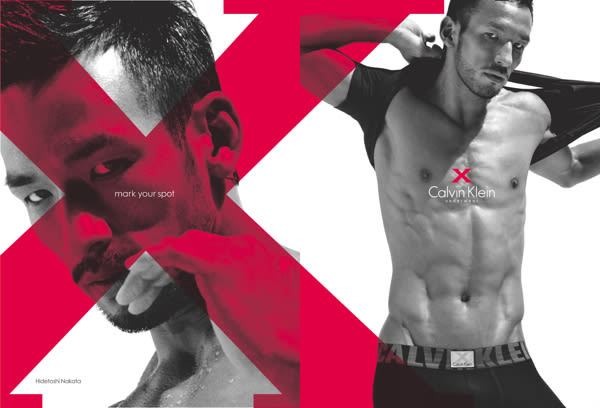 サッカー元日本代表中田英寿 Image by Calvin Klein