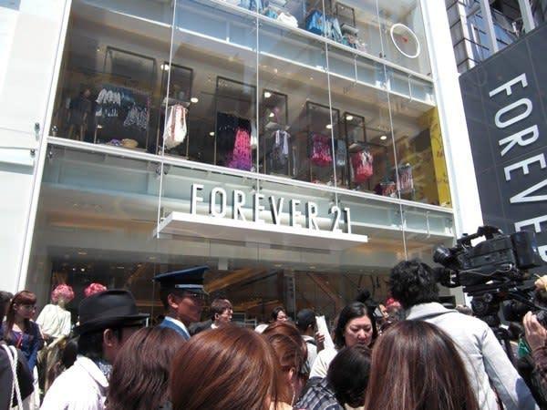 オープン直前のFOREVER21 原宿店 Image by FASHIONSNAP