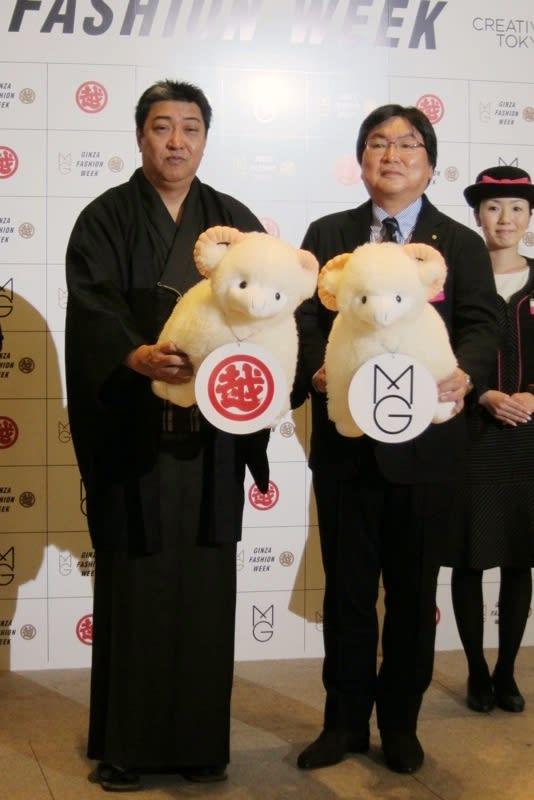 左から)松屋銀座店長 上野一郎氏、銀座三越店長 安達辰彦氏 Image by FASHIONSNAP