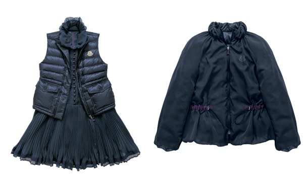 SEIRA \164,850、SUMIRE(リバーシブル)\121,800 Image by MONCLER