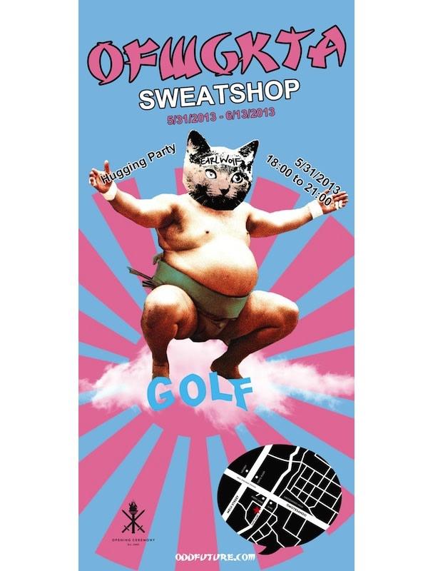 SWEAT SHOP メインビジュアル Image by OFWGKTA (Odd Future Wolf Gang Kill Them All)