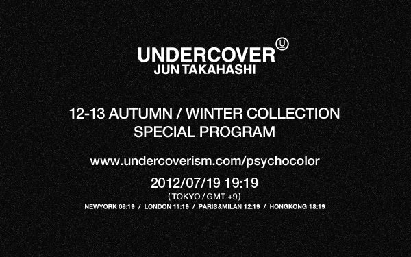 UNDER COVER 12-13AW COLLECTION SPECIAL PROGRAM Image by UNDERCOVER