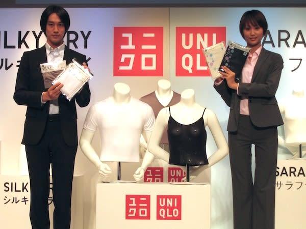 ユニクロ新戦略商品「シルキードライ」と「サラファイン」 Image by FASHIONSNAP