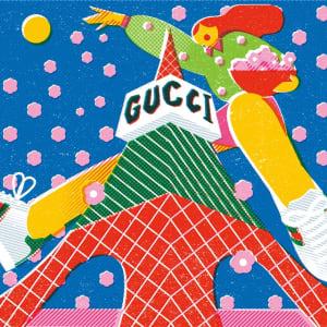 グッチがお花見から着想を得たイベントを開催、東京タワーをグッチカラーにライトアップ