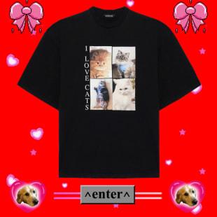 バレンシアガ I Love Pets Tシャツ