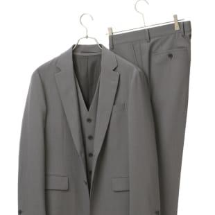 青山商事×デサント 3ピーススーツ グレー