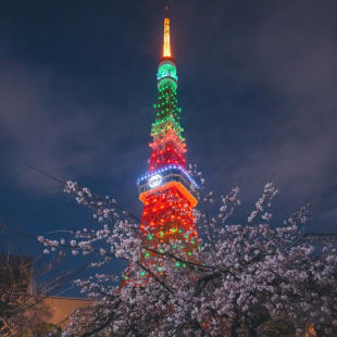 東京タワーのライトアップ時
