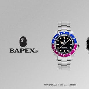 ロレックス BAPE GMT赤青