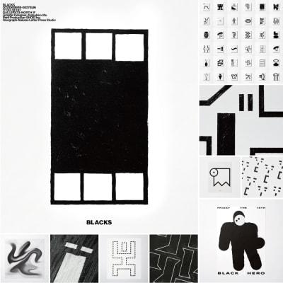 宇都勝宏の個展「BLACKS」のメインヴィジュアル